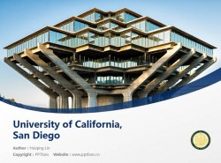 University of California, San Diego powerpoint template download | 加州大学圣地亚哥分校PPT模板下载