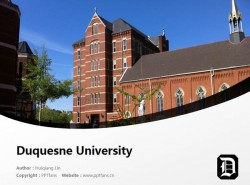 Duquesne University powerpoint template download | 杜肯大学PPT模板下载