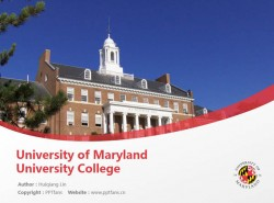 University of Maryland University College powerpoint template download | 马里兰大学-大学学院分校PPT模板下载