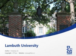Lambuth University powerpoint template download | 孟菲斯大学兰布斯校区PPT模板下载