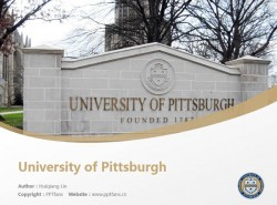 University of Pittsburgh powerpoint template download | 匹兹堡大学PPT模板下载