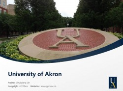 University of Akron powerpoint template download | 阿克伦大学PPT模板下载