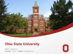Ohio State University powerpoint template download | 俄亥俄州立大学PPT模板下载
