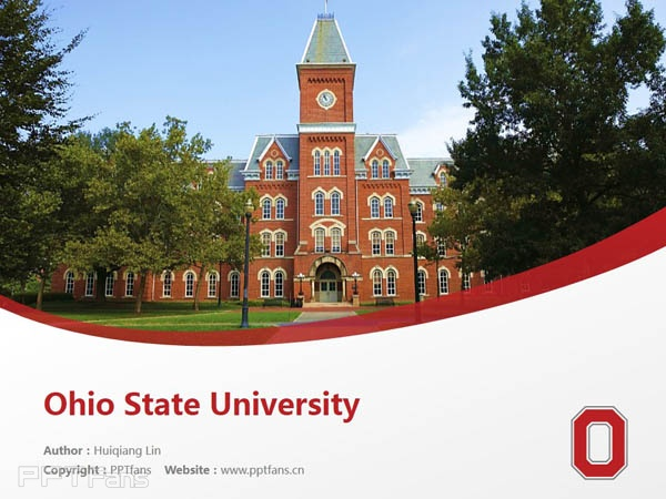 Ohio State University powerpoint template download | 俄亥俄州立大学PPT模板下载_slide0