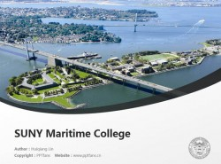 SUNY Maritime College powerpoint template download | 纽约州立大学海事学院PPT模板下载