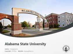 Alabama State University powerpoint template download | 阿拉巴马州立大学PPT模板下载