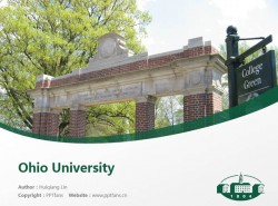 Ohio University powerpoint template download | 俄亥俄大学PPT模板下载