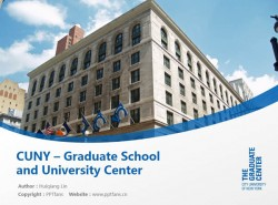 CUNY – Graduate School and University Center powerpoint template download | 纽约城市大学研究生院和大学中心PPT模板下载