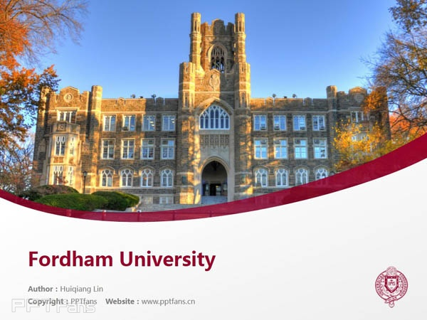 Fordham University powerpoint template download | 福德汉姆大学PPT模板下载_slide0