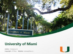 University of Miami powerpoint template download | 迈阿密大学PPT模板下载