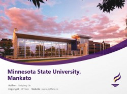 Minnesota State University, Mankato powerpoint template download | 明尼苏达州立大学曼卡托分校PPT模板下载