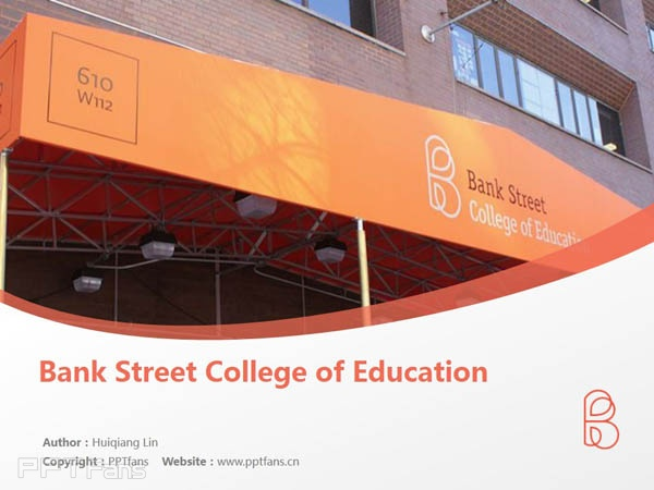 Bank Street College of Education powerpoint template download   银行街教育学院PPT模板下载_slide1