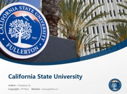 California State University powerpoint template download | 加州州立大学富勒敦分校PPT模板下载