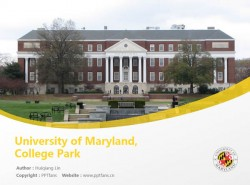 University of Maryland, College Park powerpoint template download | 马里兰大学学院园分校PPT模板下载