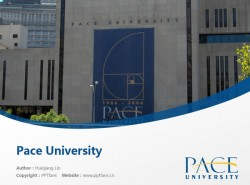 Pace University powerpoint template download | 佩斯大学PPT模板下载