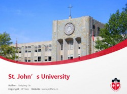 St. John's University powerpoint template download | 圣约翰大学PPT模板下载