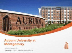 Auburn University at Montgomery powerpoint template download | 奥本大学蒙哥马利分校PPT模板下载
