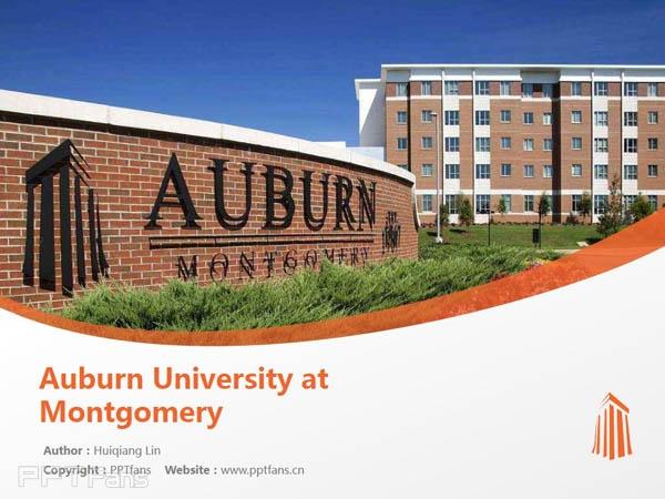Auburn University at Montgomery powerpoint template download | 奥本大学蒙哥马利分校PPT模板下载_slide1
