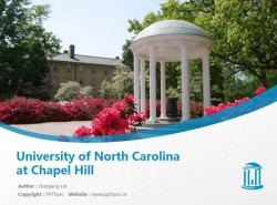 University of North Carolina at Chapel Hill powerpoint template download | 北卡罗莱纳大学查佩尔山分校PPT模板下载
