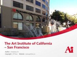 The Art Institute of California – San Francisco powerpoint template download | 艺术学院加州旧金山分校PPT模板下载