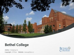 Bethel College powerpoint template download | 贝塞尔大学PPT模板下载