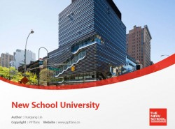 New School University powerpoint template download | 新学院PPT模板下载