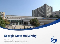 Georgia State University powerpoint template download | 乔治亚州立大学PPT模板下载