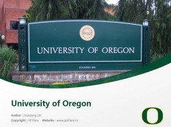 University of Oregon powerpoint template download | 俄勒冈大学PPT模板下载