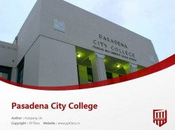 Pasadena City College powerpoint template download | 帕萨迪纳城市学院PPT模板下载