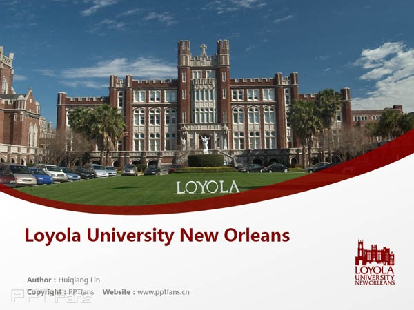 Loyola University New Orleans powerpoint template download | 新奥尔良洛约拉大学 PPT模板下载_slide1