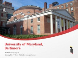 University of Maryland, Baltimore powerpoint template download | 马里兰大学巴尔的摩分校PPT模板下载