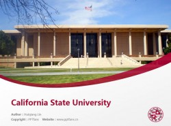 California State University powerpoint template download | 加州州立大学北岭分校PPT模板下载