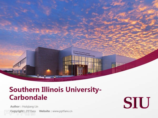 Southern Illinois University-Carbondale powerpoint template download | 南伊利诺斯大学卡本代尔分校PPT模板下载_slide1