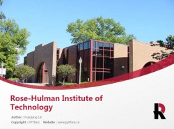 Rose-Hulman Institute of Technology powerpoint template download | 罗斯哈曼理工学院PPT模板下载