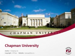 Chapman University powerpoint template download | 查普曼大学PPT模板下载