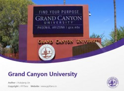 Grand Canyon University powerpoint template download | 大峡谷大学PPT模板下载