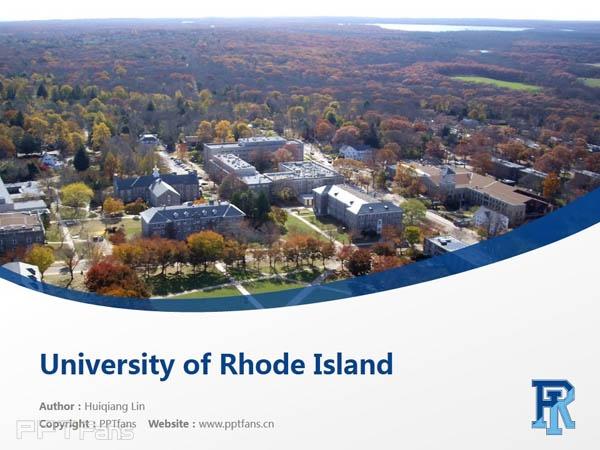 University of Rhode Island powerpoint template download | 罗德岛大学PPT模板下载_slide1