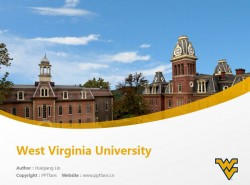 West Virginia University powerpoint template download | 西弗吉尼亚大学PPT模板下载