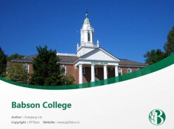 Babson College powerpoint template download | 巴布森学院PPT模板下载
