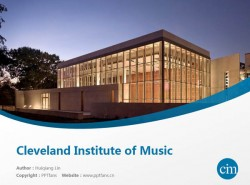 Cleveland Institute of Music powerpoint template download | 克利夫兰音乐学院PPT模板下载