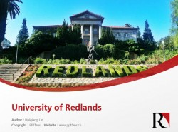 University of Redlands powerpoint template download | 雷德兰兹大学PPT模板下载