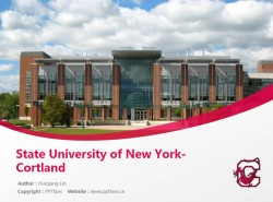 State University of New York-Cortland powerpoint template download | 纽约州立大学科特兰分校PPT模板下载