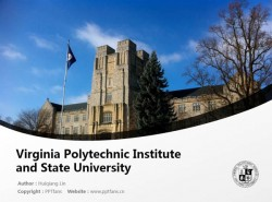 Virginia Polytechnic Institute and State University powerpoint template download | 弗吉尼亚理工学院与州立大学PPT模板下载