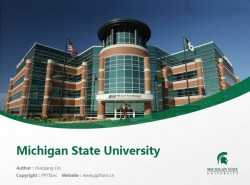 Michigan State University powerpoint template download | 密歇根州立大学PPT模板下载