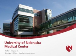 University of Nebraska Medical Center powerpoint template download | 内布拉斯加大学医学中心PPT模板下载