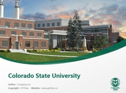 Colorado State University powerpoint template download | 科罗拉多州立大学PPT模板下载