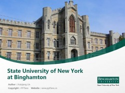State University of New York at Binghamton powerpoint template download | 纽约州立大学宾汉顿分校PPT模板下载