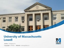 University of Massachusetts Lowell powerpoint template download | 麻省大学洛威尔分校PPT模板下载