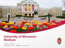 University of Wisconsin-Madison powerpoint template download | 威斯康星大学麦迪逊分校PPT模板下载