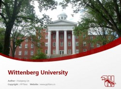 Wittenberg University powerpoint template download | 威腾堡大学PPT模板下载